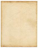 High resolution retro style graph paper