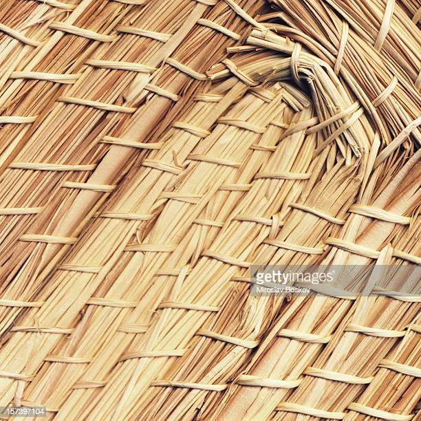 High Resolution Straw Mat Texture Sample