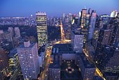 High Rise Building in New York, Manhattan, United State of America, Aerial View