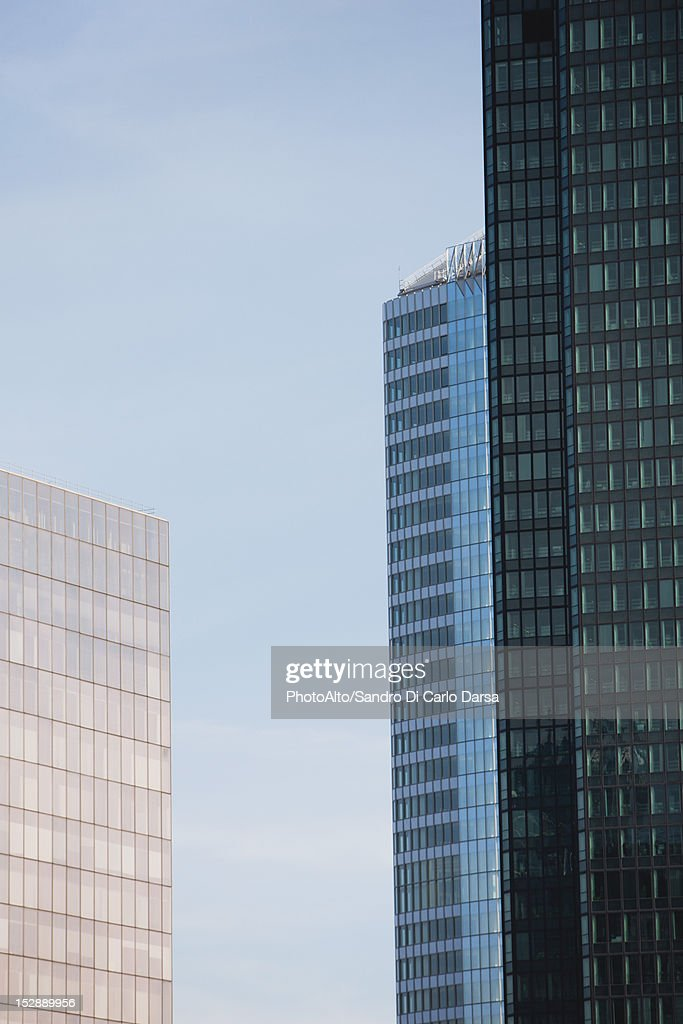High rise buildings, cropped : Stock Photo