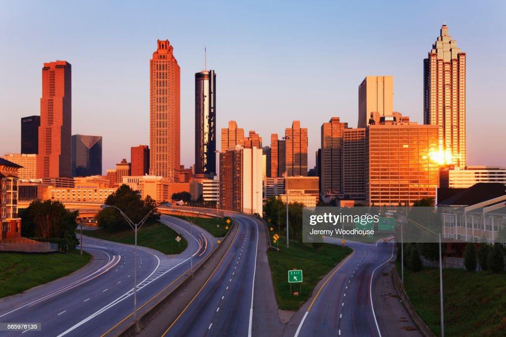 High Rise Buildings In Atlanta Cityscape Georgia United States - Is georgia in the united states