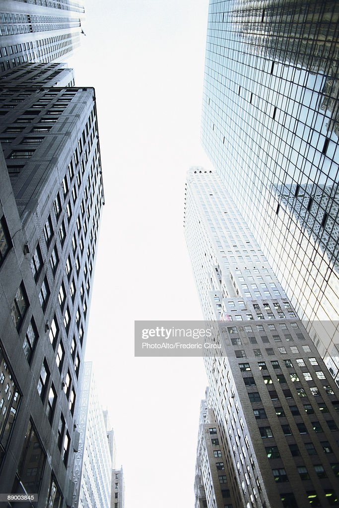 High rise buildings, low angle view : Stock Photo