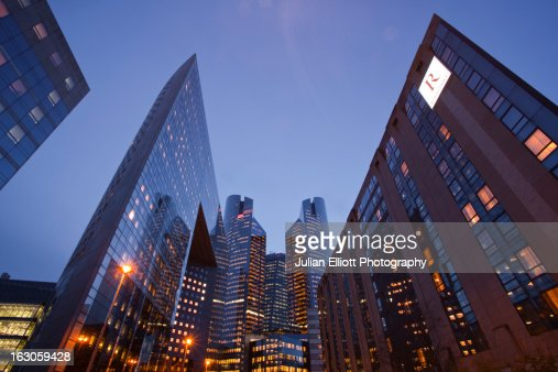 High rise office buildings in La Defense. : Stock Photo