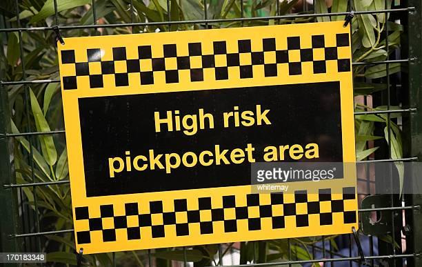 Riesgo alto Pickpocket área de señal