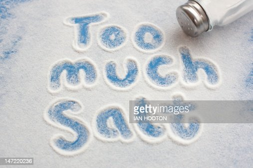 High salt intake, conceptual image