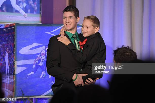 High School Athlete of the Year Hunter Gandee with brother Braden Gandee attend Sports Illustrated Sportsperson of the Year Ceremony 2015 at Pier 60...