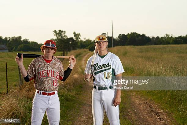 MLB Draft Preview Portrait of Grayson HS Austin Meadows and Loganville HS Clint Frazier during photo shoot on farm Both players from neighboring...
