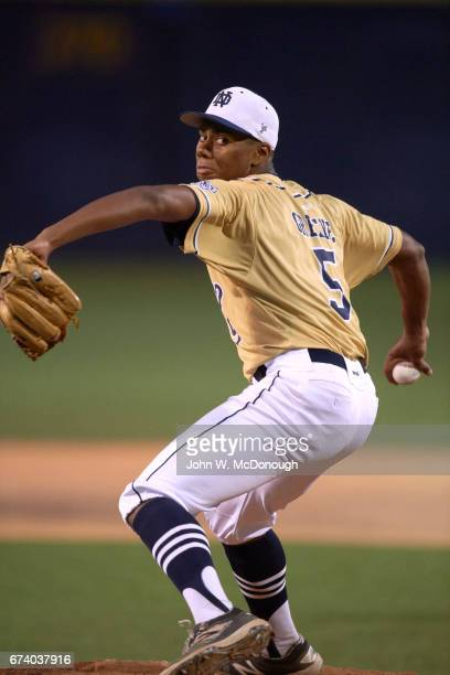 Notre Dame HS Hunter Greene in action pitching vs Alemany HS at Marine Corps Memorial Stadium Greene is a potential No 1 overall pick in this June's...