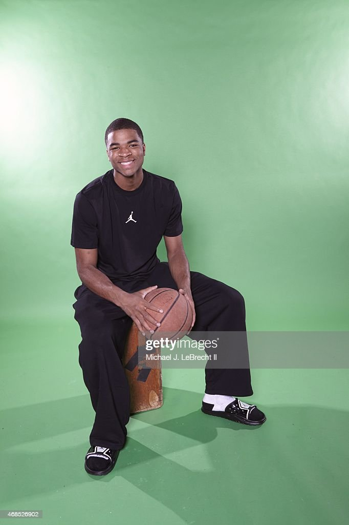 Casual portrait of Travis HS guard Aaron Harrison posing during photo shoot at Time Life Building New York NY 4/11/2013 CREDIT Michael J LeBrecht II