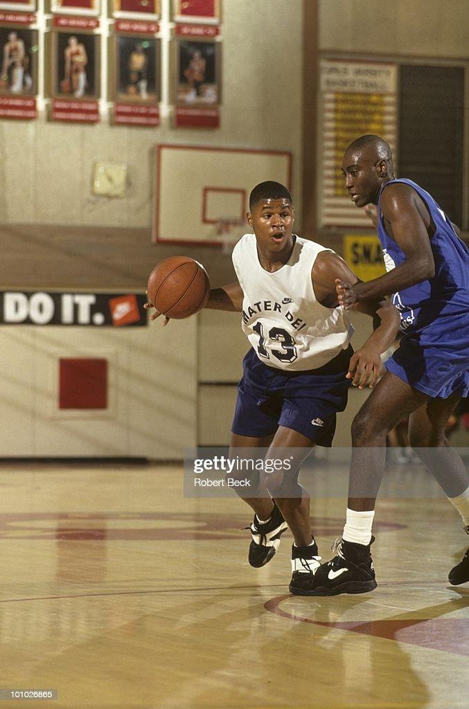Mater Dei HS Schea Cotton (13) in action vs Kentucky All Stars during tournament at Ocean View High. Huntington Beach, CA 7/13/1994