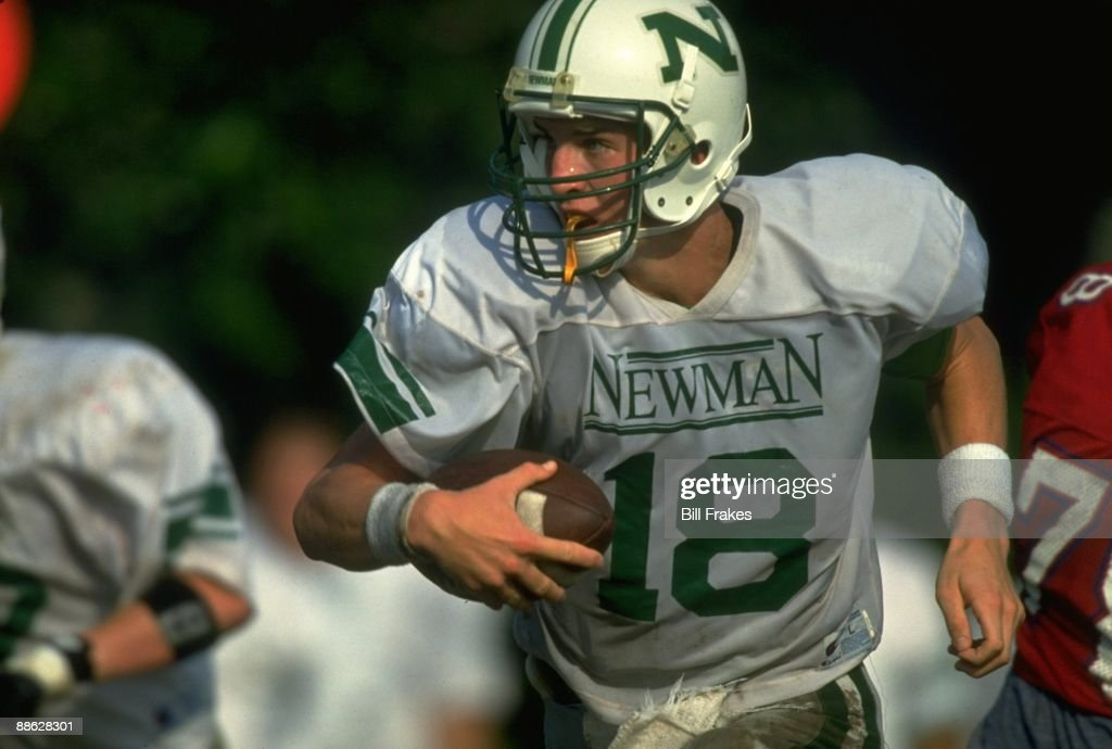Closeup of Isidore Newman School QB Peyton Manning (18) in action vs Metairie Park Country Day School. New Orleans, LA 9/15/1993
