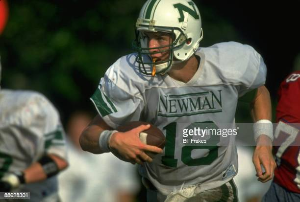 Closeup of Isidore Newman School QB Peyton Manning in action vs Metairie Park Country Day School New Orleans LA 9/15/1993 CREDIT Bill Frakes