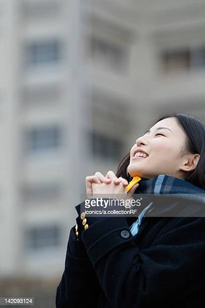 High school girl praying