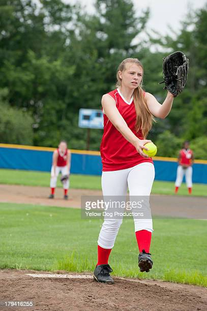 High School Girls' Softball Pitcher