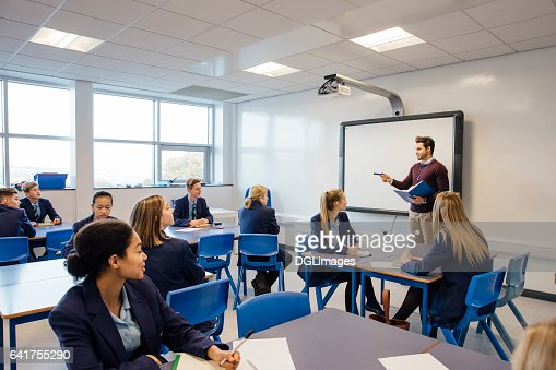 High School Lesson : Stock Photo