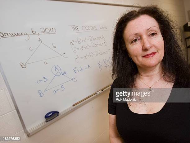 1/6/10 NEWMARKET ONTARIO High school math teacher Josie Catalono MacPherson in her classroom at Sir William Muock Secondary School in Newmarket She's...