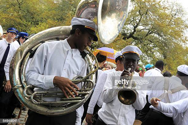 High school music band in Louis Armstrong Park