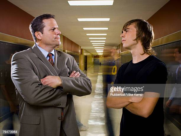 High School Principal and teenage boy