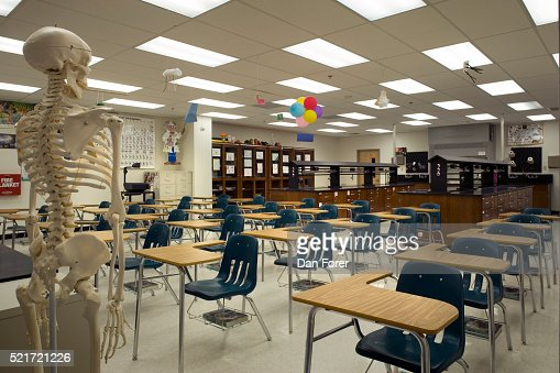 High School Science Classroom Design ~ High school science classroom stock photo getty images