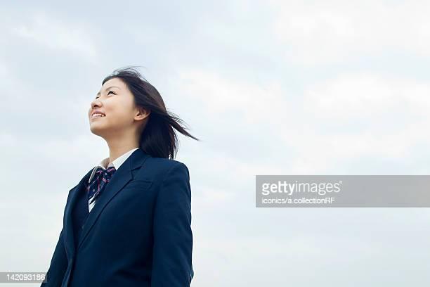 High School Student Against Sky