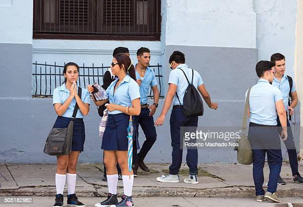High school students Once ended the countryside schools students are seen back in the cities
