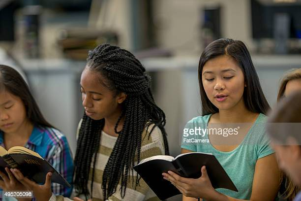 High School Students Studying Scripture Together