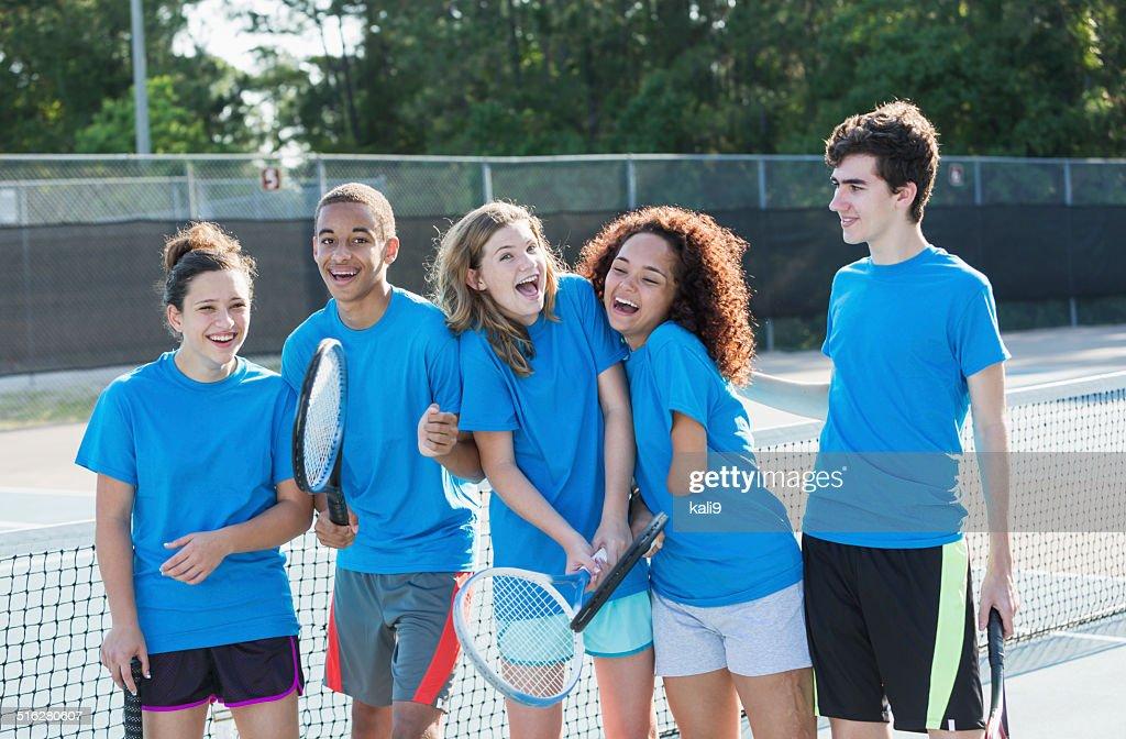 High school tennis team