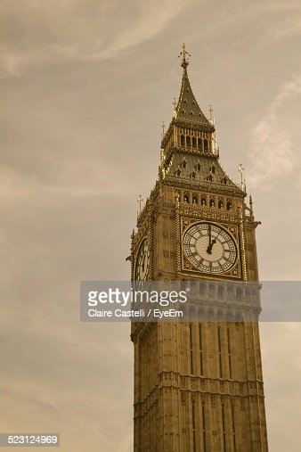 High Section Of Big Ben Against Sky
