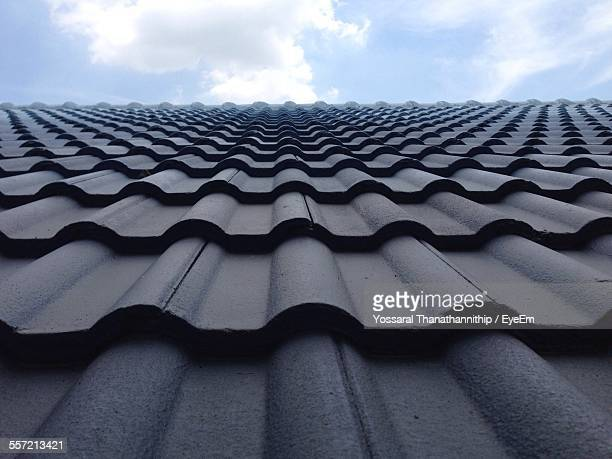 High Section Of Roof Tiles