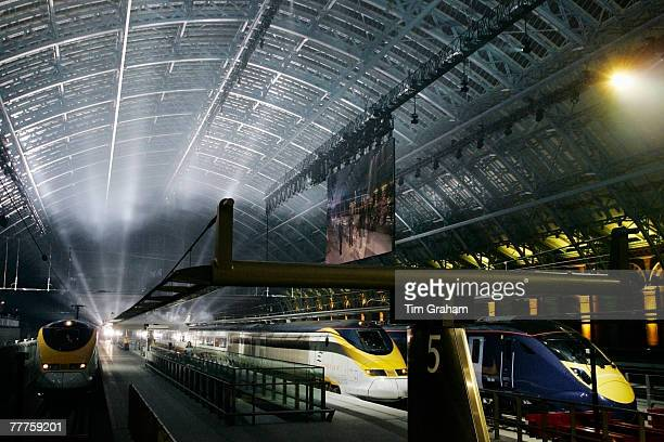 High Speed 1 and St Pancras International the new Channel Tunnel rail terminal for Eurostar is officially opened by the Queen on November 6 2007 in...