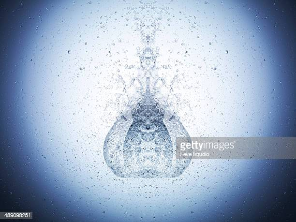High speed image of water exploding