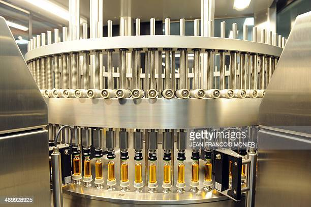 A high speed production line of insulin is pictured at the factory of Novo Nordisk a global healthcare company on February 17 in ChartresThe Danish...