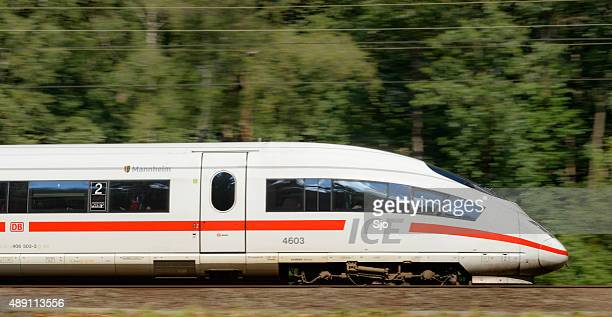 High-Speed-Zug fahren in der Natur