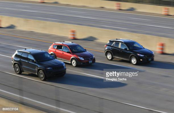 High speed vehicles on the paved highway