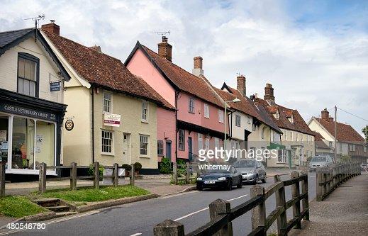 Calle, Debenham, Suffolk : Foto de stock
