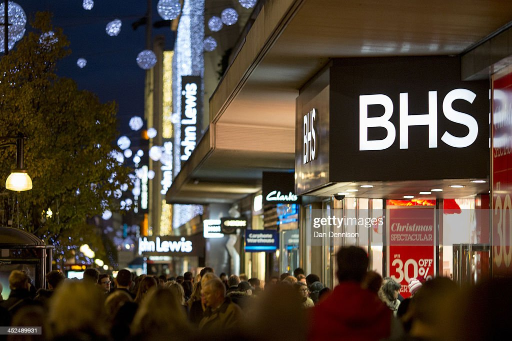 A high street department store entices shoppers with a pre-Christmas sale on November 29, 2013 in London, United Kingdom. Though traditionally a US phenomenon, 'Black friday' sales appear to have taken hold in the UK with many retailers offering large discounts for one day only, mimicking the behaviour of their American counterparts.