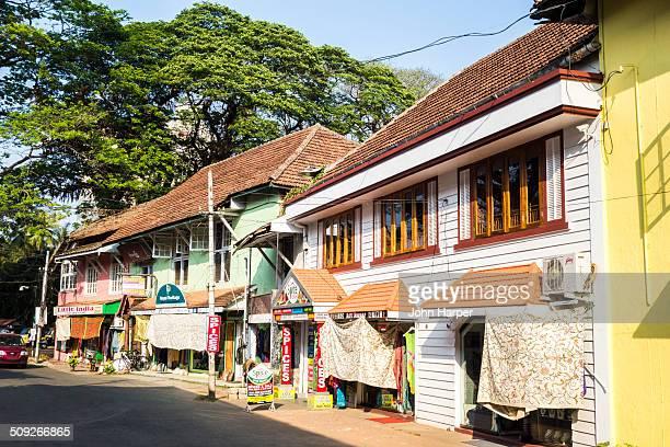 High street in Fort Kochi, Kerala, India