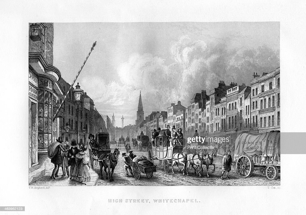 High Street Whitechapel London 19th century