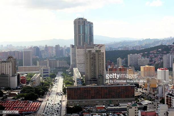 High View Of Bolivar Avenue, Caracas, Venezuela