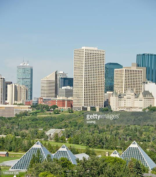 High view of Edmonton Skyline