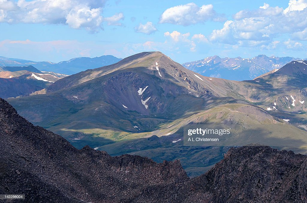 High view on mountain in Colorado Rockies : Stock Photo
