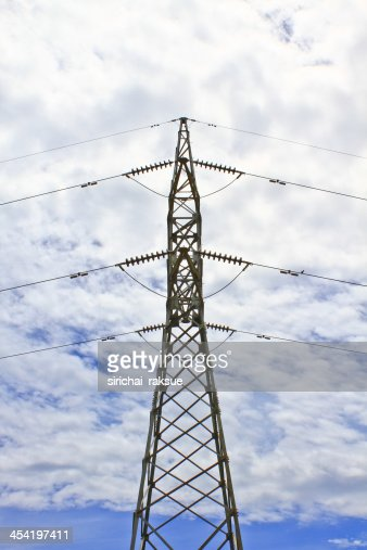 High voltage tower : Stock Photo