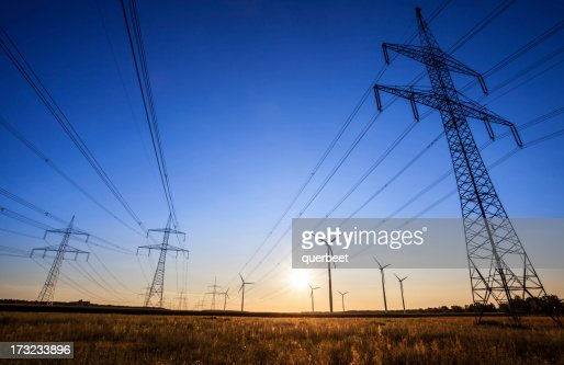 High Voltage Tower - sunset