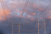 High voltage transmission  towers