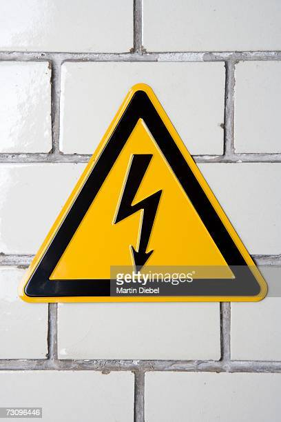 ?High voltage? warning sign