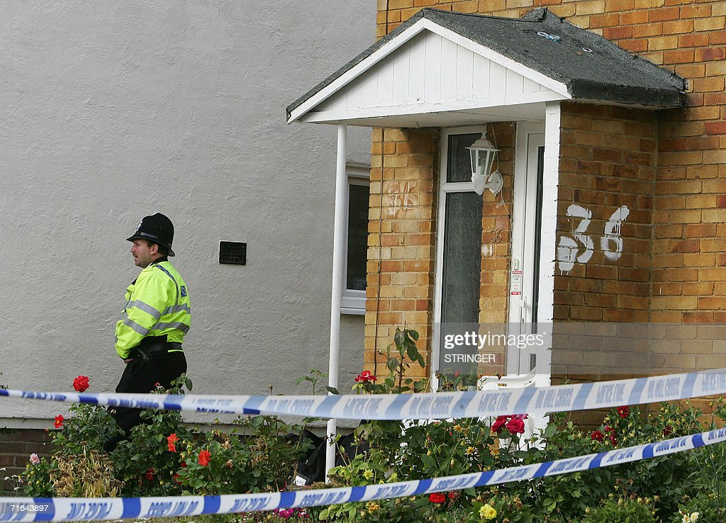 High Wycombe United Kingdom  city images : high wycombe united kingdom a british police officer stands guard ...