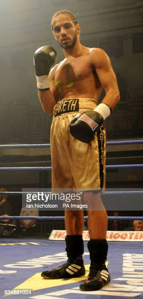 High Wycombe's Gareth Couch celebrates his victory over Sean Walton in a LightWelterweight contest at Bethnal Green's York Hall