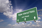 Higher interest rates ahead concept