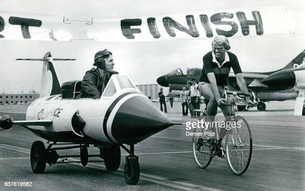 HighFlying Governor Best General In Race Gen William Hoover left above arrives at Governor's Cup Bicycle Race in a model of an F4 Phantom jet but it...
