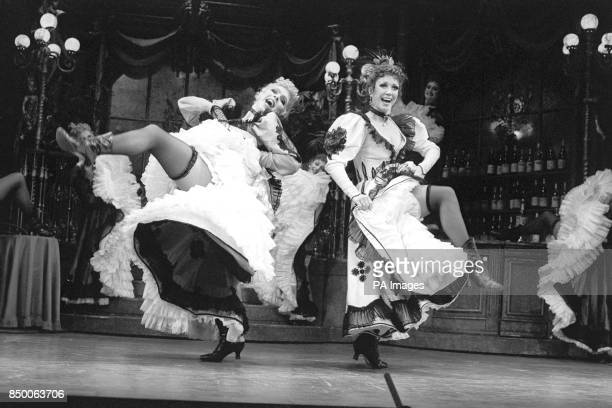 Highkicking frolics from Janie Dee and Broadway star Donna McKechnie at London's Strand Theatre during a preview of a new version of Cole Porter's...